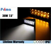 Best 36W Remote Control LED Light Bar , Double Row Amber White Led Offroad Light Bar wholesale