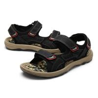 Best Comfortable Mens Black Leather Sandals , Mens Sport Sandals EUR 39-46 Size wholesale