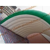 Cheap Personalised Fruit Shaped Balloons , 1.2m Long Inflatable Watermelon Slicer for sale