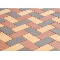 Best Customized Red Clay Brick Pavers , Concrete Driveway Pavers Sintered / Extrusion wholesale