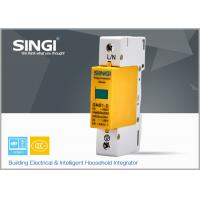Best 1 Pole Yellow Surge protector Device , Solar / DC lightning protection system wholesale