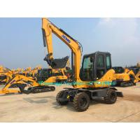 Best All Wheel Drive 4 Wheeled Mini Excavator , 6 Ton Excavator For Earth Moving XE60WA wholesale