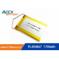 Best 3.7V 1700mAh 454867 pl454867 lithium polymer battery li-ion rechargeable battery for digital products wholesale