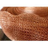 Best Purple Copper Wire Mesh Customized 4 Line Wire Knitted Netting 10cm Width wholesale