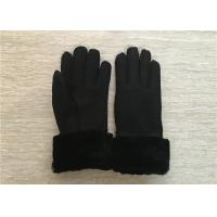Best Women Shearling Warmest Sheepskin Gloves , 100% Hand Sewing Lambswool Lining Cuff wholesale