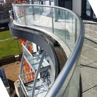 Best Arched Tempered Glass Railing / Aluminum U Channel Railing / Curved Glass Balustrade wholesale