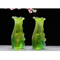 Best Gradual Green Colored Home Decorations Crafts Glaze Vase Family Hall Usage wholesale