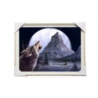Best CMYK 3D Wolves Image Lenticular 3d Pictures PS Frame For Office Decoration wholesale
