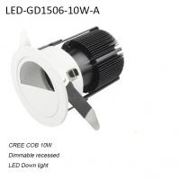 Best 10W recessed indoor dimmable LED down light for bedroom used wholesale