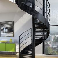 Best Indoor / Outdoor Powder Coated Black Metal Spiral Staircase Price / prefab Stairs wholesale
