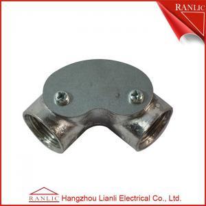 Best Inspection Elbow Conduit Terminal Box Aluminum Conduit Fittings / Pre - Galvanized Finish wholesale