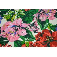 Best Natural Cotton Fabric / 16OZ Cotton Canvas With Nice Flower Printing wholesale