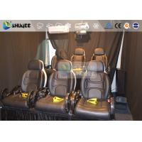 Best 6 Persons 7D Movie Theater Mini Luxury Leather Motion Chairs , Remove Anywhere wholesale