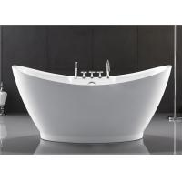 Best European Style Resin Freestanding Tub , Custom Size Deep Soaker Tubs For Adults wholesale