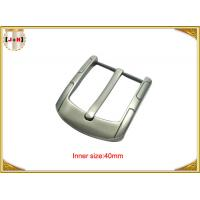 China Simple Custom Gunmetal Plating Metal Belt Buckle for Men 40MM Pin Style on sale