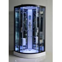 Cheap Black Glass Steam Shower Bath Cabin 1000 * 1000 With Computer Control for sale