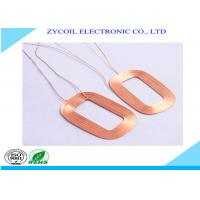 Cheap Square Magnetic Air Core Inductor Coil , Electromagnetic Induction Coil Winding for sale