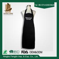 Best Deconovo Chef Cotton Kitchen Solid Color Apron with Pockets and Adjustable Neck Straps wholesale