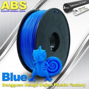 Best ABS Blue Fluorescent Filament  , 1.75mm / 3.0mm 3D Printer Filament 1kg / Spool wholesale
