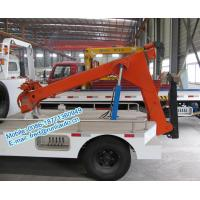 Cheap Hydraulic oil system controlled JMC 4x2 orange color 4 ton tow truck wrecker low for sale