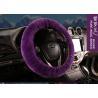 Buy cheap Purple Fur Automotive Steering Wheel Covers , Short Wool Steering Wheel Cover from wholesalers