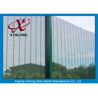 Best Strong Body High Security Fence Electric Galvanized And Powders Sprayed Coating Dark Green wholesale