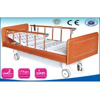 Best Luxury Medical Bed With Wooden Side Rails , Automatic Home Care Patient Bed wholesale