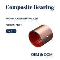 Best Steel Bronze Red Polymer Plain Bearings Split Bushes Tin / Copper Made To Order wholesale
