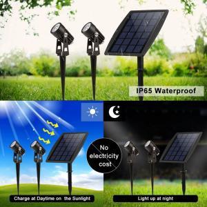 Best Solar Led Portable Motion Sensor Light 2 Head Spot For Garden Park Pathway Lighting wholesale