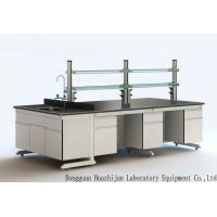 Best All Steel Structure Lab Central Bench For Chemical Factory and School From Huazhijun wholesale