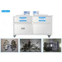 Best 3 Phases 175 Liter Heated Ultrasonic Cleaner , Two Tanks Ultrasonic Cleaning Machine wholesale