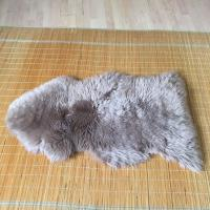 Cheap Australian Sheepskin Rug Sheepskin Collection Genuine Sheepskin Pelt Black Premium Shag Runner (4' x 6') for sale