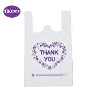 Best High Quality Plastic Clear Vest Handles Bags T-shirt Shopping Bags with Custom Logo wholesale