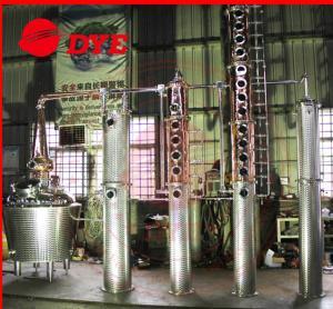 Best 500L Stain Steel / Copper Distiller Machine , Home Moonshine Still wholesale