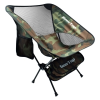 Best Camouflage 300lbs Load Fold Up Camping Chairs For Picnic wholesale