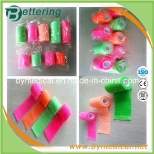 China Neon ColourMedical cohesive elastic bandage self adhesive bandage on sale
