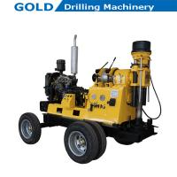 Best Trailer Mounted Diesel Power Driving Hydraulic Feeding Water Well Drilling Rig wholesale