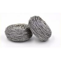 Best Round Shape Stainless Steel Scourer , Steel Scouring Pad With Comfortable Handfeel wholesale