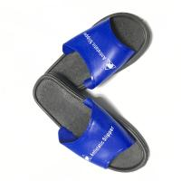 Washable PVC Slipper Economic ESD Safety Shoes Color Blue Upper w/Black Sole