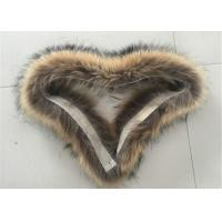 Best 70*20cm Size Raccoon Replacement Fur Collar Windproof Warm For Garments wholesale