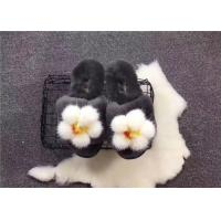 Best Fashion Sheep Wool Slippers , Winter Women Indoor Warm Fluffy Home Shoes wholesale