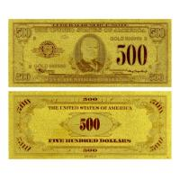 Buy cheap Double logo plated gold foil banknote from wholesalers