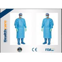 Buy cheap Medical Biodegradable Disposable Surgeon Gown Against Liquid For Hospital / Lab from wholesalers