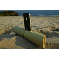Best hot selling bamboo speaker,cylindrical portable mini loudspeaker for iphone5 wholesale