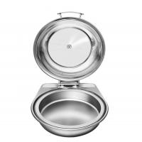 Best High Quality Buffet Tools Stainless Steel Induction Food Warmers Round Chafing Dish 1805F wholesale
