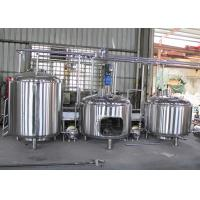 Best SUS304 Commercial Beer Brewing Equipment , Automatic Brewing System wholesale