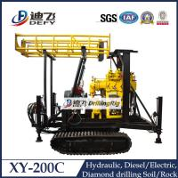 Best Manufacturer XY-200C Crawler Mounted Water Well drilling machine rig with Diamond Bits wholesale