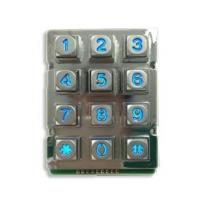 Best Zinc Alloy Rugged Blue Backlight  12 keys Keypad with 9 Pin wholesale