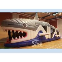 Best Giant Kids And Adults Inflatable Shark Obstacle Course With EN14960 Certificate wholesale