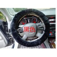 Best Black Genuine Sheepskin Steering Wheel Cover With Australia Pure Wool wholesale